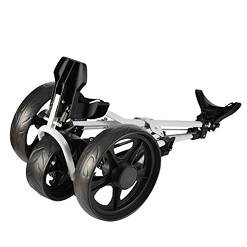 YLEI Golf Push Trolley - Golf Push Cart - Golftrolley - Golf Trolley - Golfwagen Golfcaddy Golf Cart mit 3 Rädern schwarz