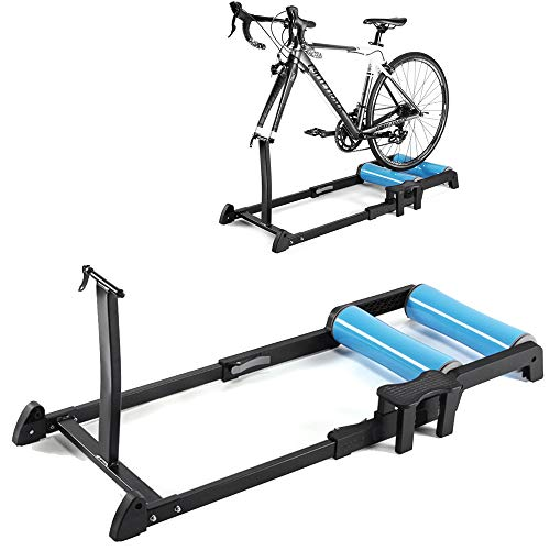 LittleNUM Bicycle training platform,silent roller mountain bike training stand,Compatible with bikes that have a wheel diameter of 24-29 inches,include the 700C bikes (Type-A)