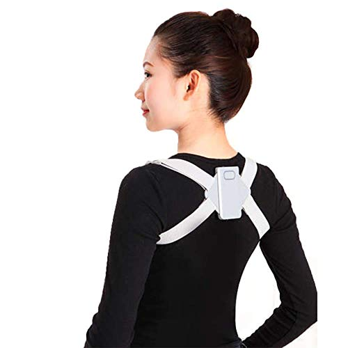 LKJHG Adjustable Smart Back Posture Corrector Clavicle Trainer Spine Back,S
