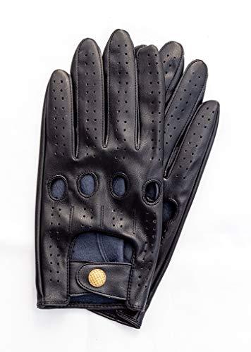 Riparo Men's Vegan Leather Full-Finger Driving Touchscreen Gloves (X-Large, Black)