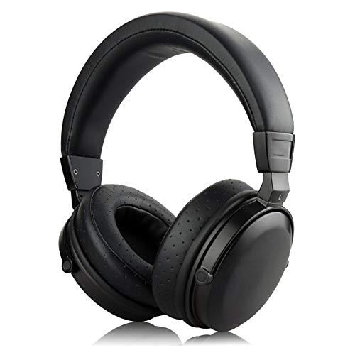 YPJKHM Auriculares de Madera Bluetooth Libre Plegable Suave Orejeras Auriculares Auriculares de Metal Madera