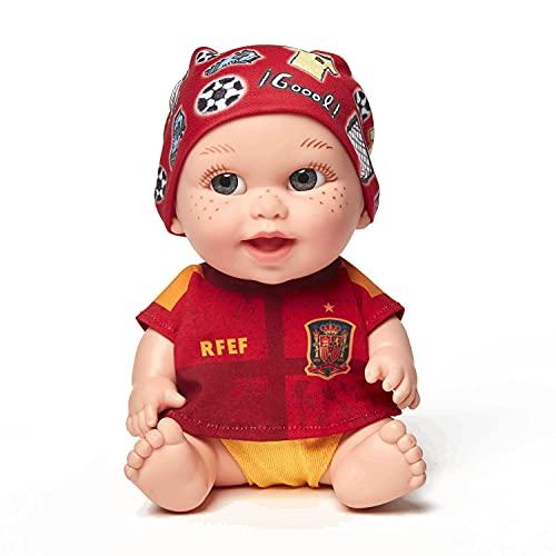Juegaterapia Muñeco Baby Pelón de la Roja, Juguete Solidario, Selección Española de Fútbol, con los Jugadores Ramos Llorente Morata Busquets Fabián Rodri