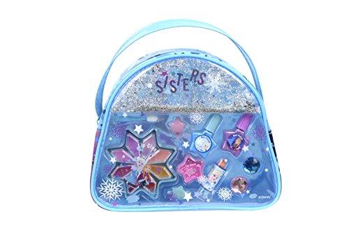 DISNEY FROZEN Snow Magic Beauty Bag Kit Maquillage pour Enfant 1 Rouge à Lèvres 8 Gloss 2 Vernis Accessoires