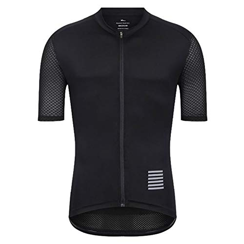 DANGAO Hombres Ciclismo Jersey MTB Camisa de Bicicleta Downhill Jersey Mountain Bicycle Ropa (Color : Black, Size : X-Small)