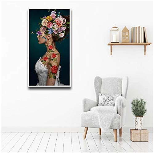 un known Cuadros Decoracion Salon Carteles e Impresiones nórdicos de la Novia Arte Mural Pintura en Lienzo Pintura de Pared Decoración de la habitación 23.6x31.5in (60x80cm) x1pcs Sin Marco