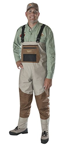 Caddis Men's Attractive 2-Tone Tauped Deluxe Breathable Stocking Foot Wader, Large(DOES NOT INCLUDE BOOTS)