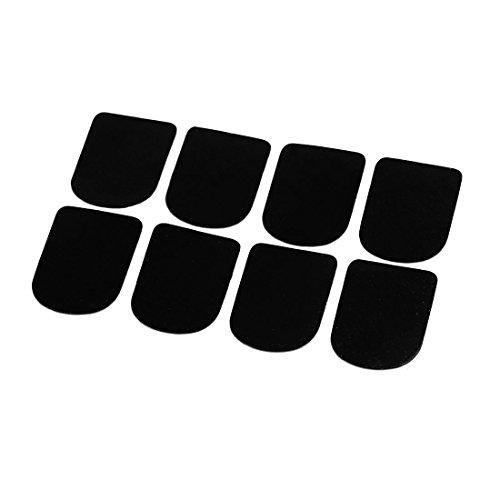 Querflöte/Klarinette/Saxophon-Mundstück Patches Pads Kissen, mit Glasbesatz, 8 Stück, Schwarz de