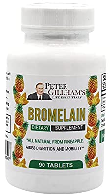 Bromelain 1800 GDU/g 600mg 90 Tablets by Peter's Choice (30 Servings per Container) Digestion Support Enzymes. Antioxidant. Anti-inflammatory. Made in USA