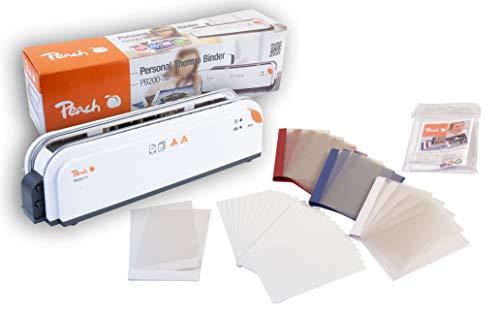 Peach PB200-70 Thermobindegerät DIN-A4 und Photo Combibox| Testsieger* | Schnell Startklar | nur 1 min. Bindezeit | einfachstes und Schnellstes Bindesystem