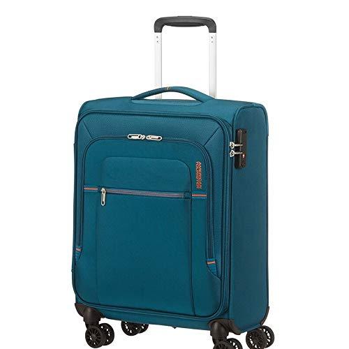 American Tourister Crosstrack Maleta con 4 Ruedas Azul 55 cm