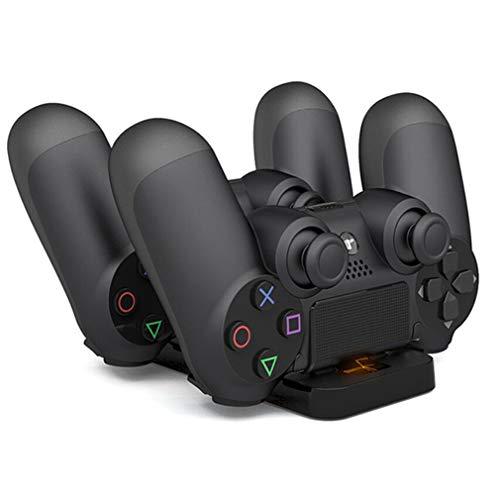 QAIYXM PS4-styrenhet, dubbel USB-laddningsdockningsstation, stativ för PS4 Playstation 4 Game Controller handtag laddare vagga konsol för PS 4