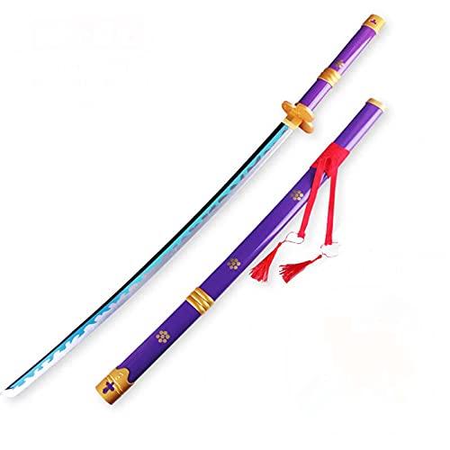ONETOOSE One Piece Cos Wooden Sword, for Roronoa Zoro Shusui,Wado Ichimonji,Kitetsu,Yubashiri,Enma for Anime Cosplay Lovers, Cosplay Props Toys,Wooden Blade Katana Samurai Swords,104cm