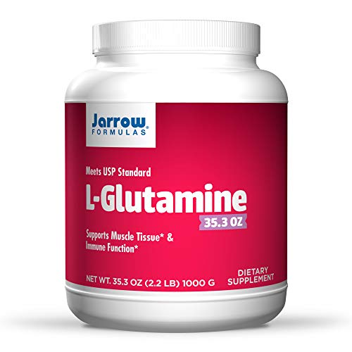 Jarrow Formulas L-Glutamine Powder, Supports Muscle Tissue, 2 g per Serving, 35.3 Oz