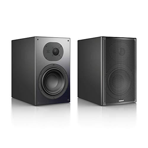 Nubert nuLine 34 Regallautsprecherpaar | Lautsprecher für Stereo | Heimkino & HiFi Qualität auf hohem Niveau | Passive Regalboxen mit 2 Wegen Made in Germany | Kompaktlautsprecher Schwarz | 2 Stück