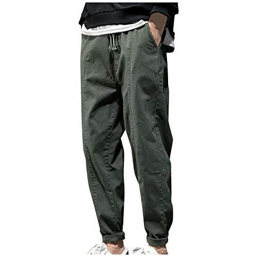 KIMODO Jogginghose Trainingshose Freizeithose Sweatpants Herrenmode Sporthose Lang Hosen Lose Fit Lässige Plus Size (A-Armeegrün, 4XL)