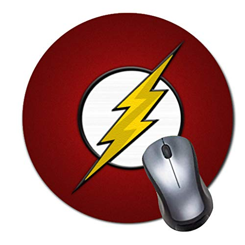 Gaming-Mauspad, rutschfest, Gummi, rund, Mauspad für Computer, Laptop, Mauspad, Flash-Symbol