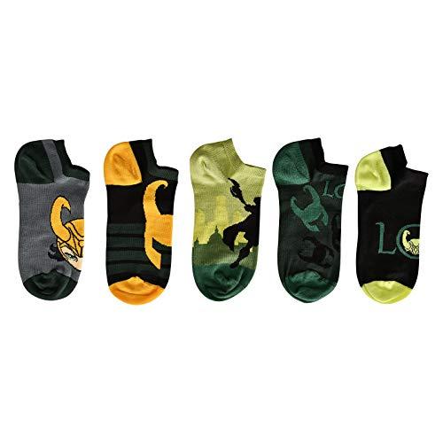 Loki Elbenwald Marvel Sneakersocken-Set Motiv Verschiedene Designs 5er Set Unisex - 35-38