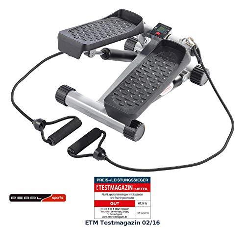 Pearl Sports Mini Stepper:ministepper con estensore e computer di allenamento (Fitness Stepper)