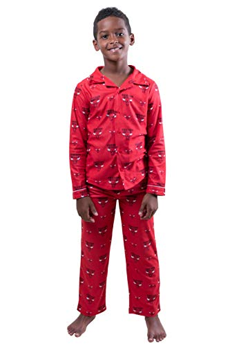 Ultra Game NBA Chicago Bulls Youth 2 Piece Soft Tee Shirt & Lounge Pants Sleepwear Loungewear Pajama Set, Team Color, 7