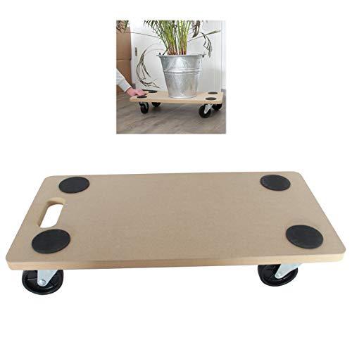 TRUTZHOLM Transportroller 200 kg Tragkraft | MDF-Platte/Möbelroller 580 x 290 mm Rollbrett Möbelhund Kistentransport Transporthilfe für Umzug Kistenroller