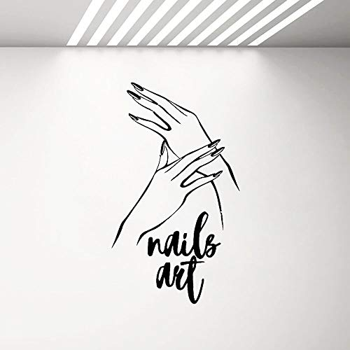 yaonuli muursticker met slanke vingers, vinyl, zelfklevend, decoratie thuis, zelfklevend, voor manicure-salon