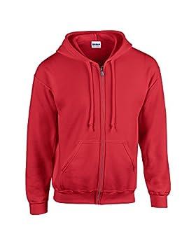 "Gildan HeavyBlend""¢ full zip hooded sweatshirt Red XL"