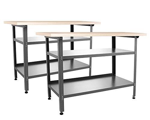 Ondis24 2x Montagewerkbank TÜV geprüft, Werkstatteinrichtung Werkstatt Werkbank Werktisch