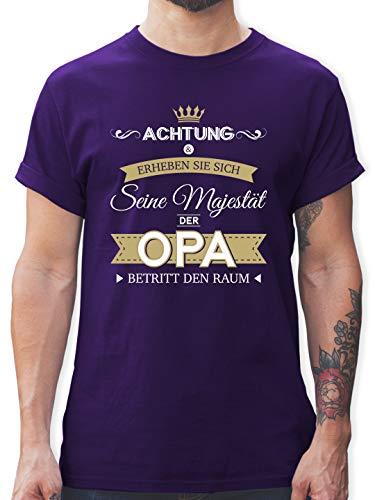 Opa - Seine Majestät der Opa - XXL - Lila - Opa Geschenk - L190 - Tshirt Herren und Männer T-Shirts