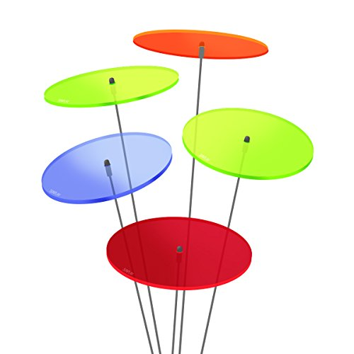 3 St/ück zu je 15 cm Durchmesser im Set 70 cm Schwingst/äbe SUNPLAY Sonnenf/änger Seerose in Blau