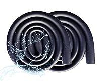 2 PCS パイプ断熱材、1.8Mフォームパイプ絶縁、防水および難燃性の独立気泡パイプ絶縁、エアコン 配管 パイプ、断熱発泡チューブ (Size : 60mmx9mm2.4x0.35inch))