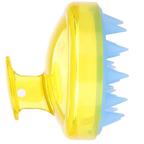 Haarwasch- und Massagekamm, Läusebehandlung, Läuse-Kämme, Shampoo, Kopfhaut, Dusche, Bade-Massagegerät, Bürste [gelb]