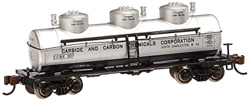 Bachmann Industries 3 Dome Tank Carbide and Carbon Chemicals Car, N...