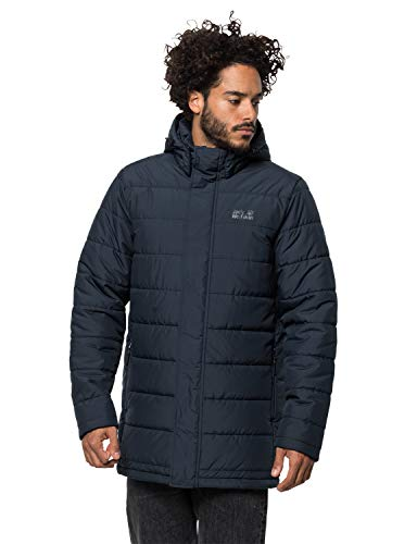 Jack Wolfskin Herren SVALBARD COAT MEN winddichter Wintermantel, Night Blue, M