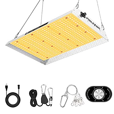 Phlizon Upgrading 1500W Dimmable Plant LED Grow Light Full Spectrum Grow Lamp for Indoor Plants Waterproof Zero Noise Growing Light for Hydroponic Veg and Bloom 2x4ft Coverage