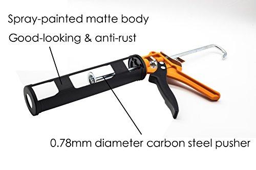 Finder Pistolet à cartouche, Pistolet silicone professionnel Compatible avec tube de 283,5 kilogram/cartouche mécanique pour pose de joint mastic/colle