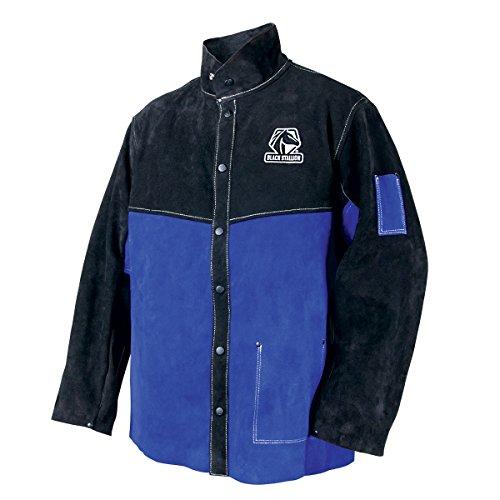 Black Stallion JL1030-BB Color Block Leather Welding Jacket, Large