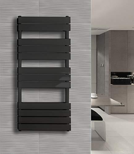Badkamerradiator BLOCK-S (aansluiting aan de zijkant) 120 x 60 cm grijs