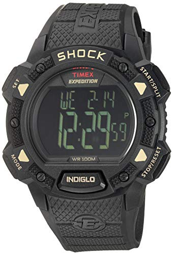Timex Men's T49896 Expedition Base Shock Blackout Resin Strap Watch
