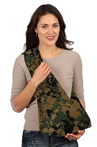 HugaMonkey Camouflage Military Baby Sling Wrap Carrier for Newborn Babies, Infants and Toddlers Upto 3 Years - Green and Black, Small