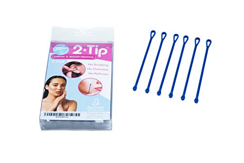 Multi Use 2-Ended Reusable Q Tip Swab and Blemish, Blackhead or Whitehead Remover. All in One Professional Ear Pick and Skin Beauty Tool to Clean Earwax, Imperfections from Acne, Nasal Gunk and More