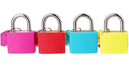 Sashtech Coated Brass Padlock - Travel Luggage Bag Suitcase Security Shackle – 4 Colours