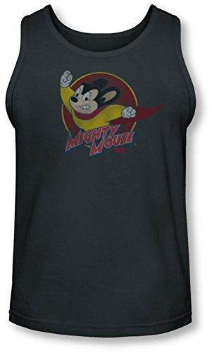 Mighty Mouse - - Puissant Cercle Tank-Top pour hommes, Medium, Charcoal