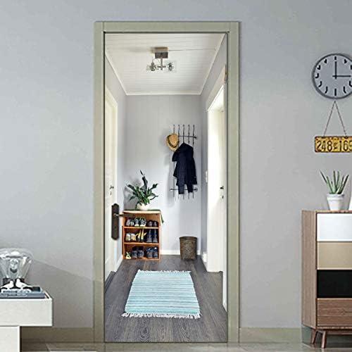 3D Door Decal Door Stickers Decor Door Mural Removable Vinyl Door Wall Mural Door Wallpaper product image