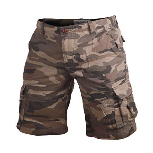 Muscle Alive - Pantalones cortos de senderismo para hombre (100% algodón), diseño de camuflaje, 40