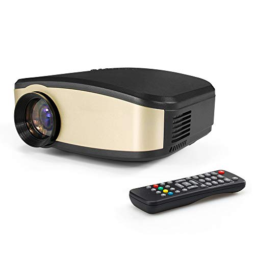 Projectie mini-beamer, kan in de thuisbioscoop worden gebruikt, ingebouwde luidspreker, 7 landtalen, handmatige trapeziumcorrectie.