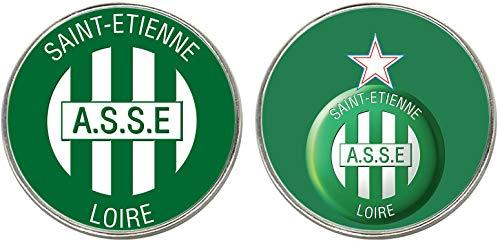MasTazas Association Sportive De Saint-Etienne 2 Imanes Metalicos Circulares 5,4 cm