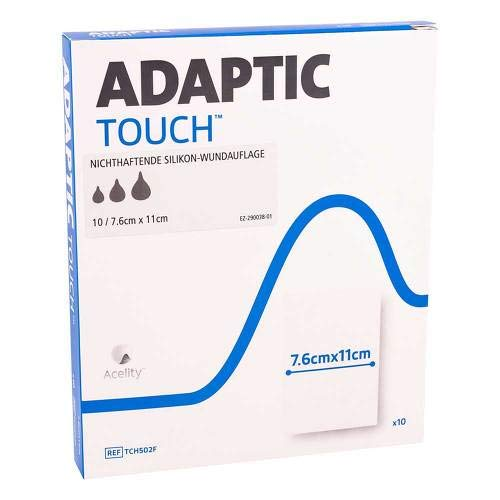 ADAPTIC Touch 7,6x11 cm nichthaft.Sil.Wundauflage 10 St Wundgaze