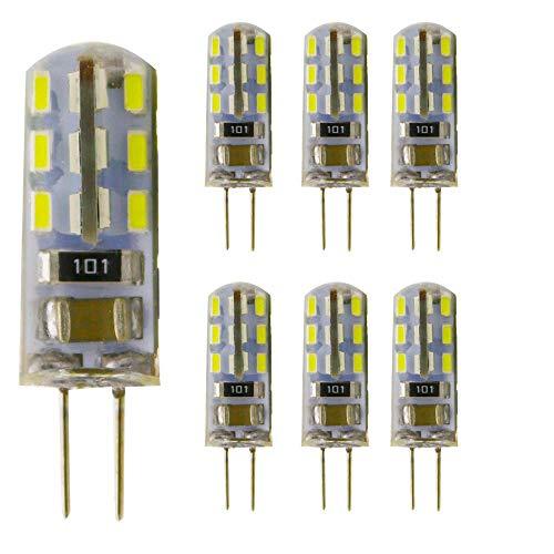 6 Unidades 1.5 W G4 24 x SMD3014 LED Bombilla silika