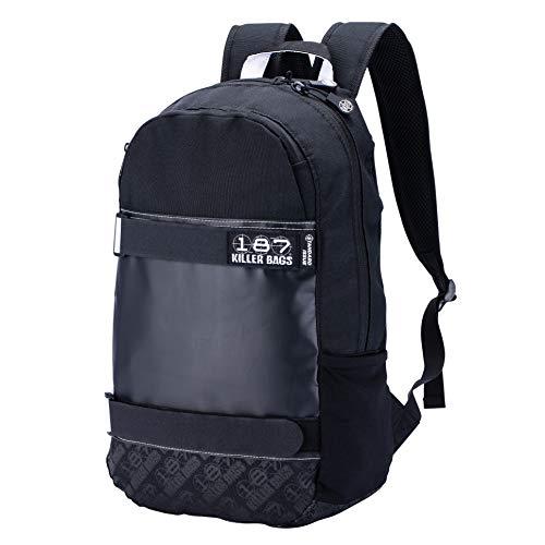 187 Killer Pads Standard Issue Backpack with Skateboard Straps, Black