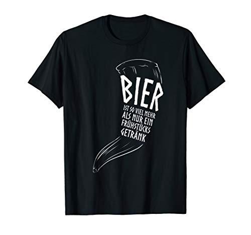 Wikinger Trinkhorn Kleidung Germanen Lustiger Spruch Bier T-Shirt